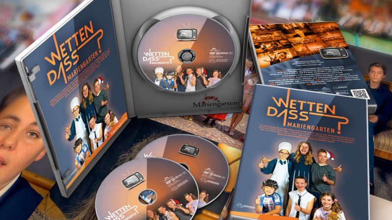 "DVD Cover for ""Wetten Daas"" project by Mariengarten school"